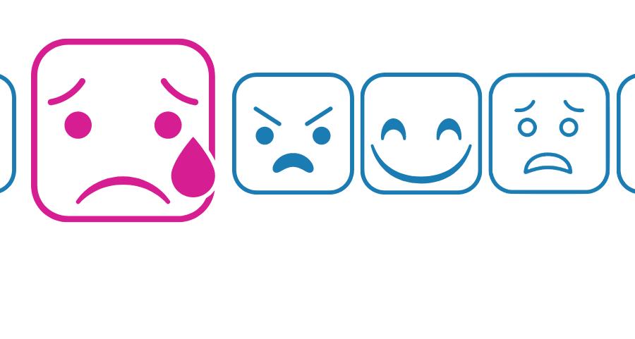 Frise des émotions - surprise, tristesse, colère, joie, peur et dégout